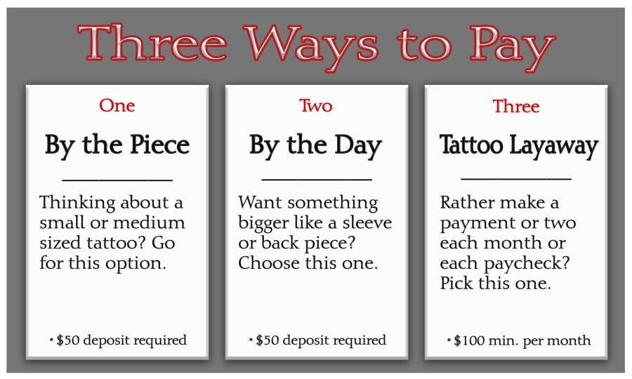 3 Ways to Pay - Layaway